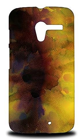 Foxercase Designs Yellow Watercolor 39 Hard Back Case Cover For Motorola Moto X (1st Gen.) (Moto X 1st Gen Phone Covers)