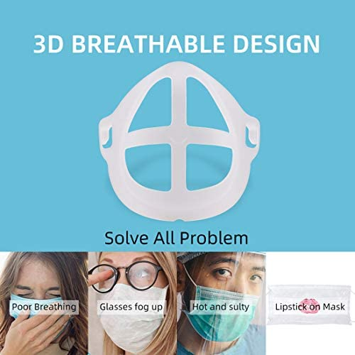 3-d Face Bracket Internal Support, 5pcs Child Frame Silicone Mask Bracket for Increase Breathing Space and Keep Makeup