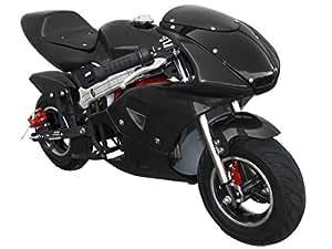 40cc black 4 stroke motorized pocket bike. Black Bedroom Furniture Sets. Home Design Ideas