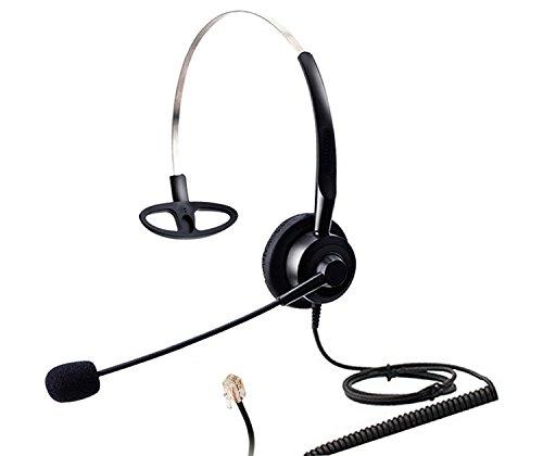 Audicom Corded Call Center Phone Headset with Comfort Headband Fit for NEC Aspire Nortel M2616 M3904 Plantronics S11 S12 A100 T10 T20 T100 Aastra Telecom Shoretel Avaya Hands-Free Telephone (H200STK)