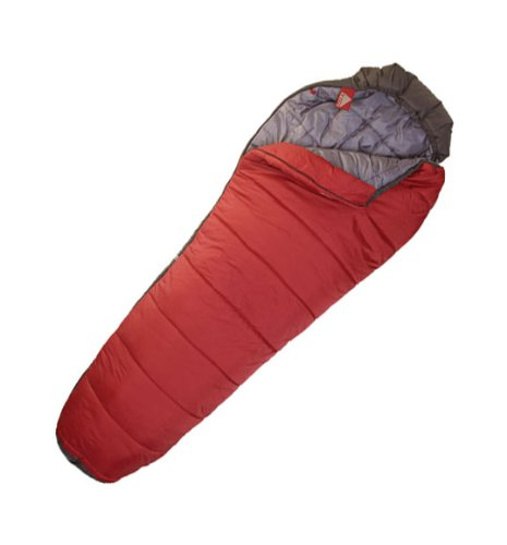 Kelty Mistral 20 Degree Synthetic Sleeping Bag, Extra Long, Blood Red, Outdoor Stuffs