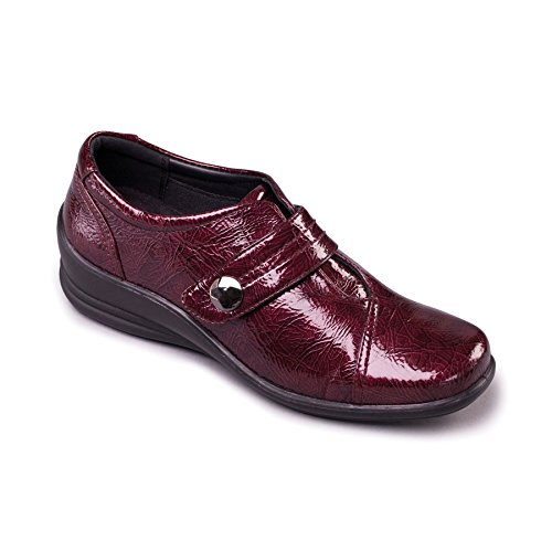 Leather Women's 35mm Footcare Fit Shoe System Free Fit E Padders UK Wide Extra shoehorn EE Dual 'Simone' Heel Burgundy xp4qd5w7