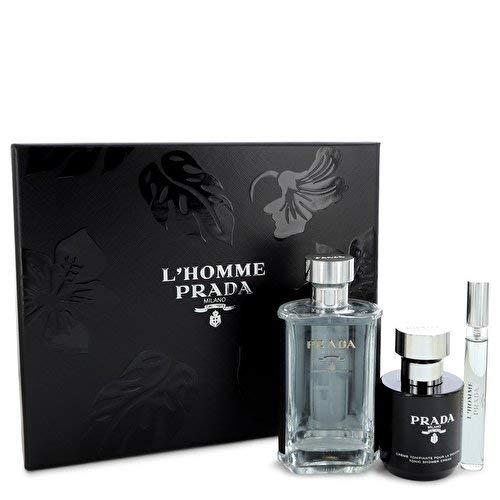 L'Homme by Prada Eau de Toilette Spray 100ml, Shower Gel 100ml & Eau de Toilette 10ml