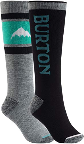 Burton Women's Weekend Midweight Sock 2-Pack, True Black W19, Small\\Medium