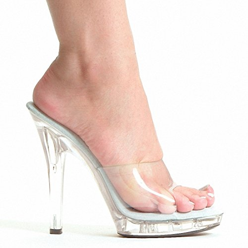 Clear Wedge High Heel - 8