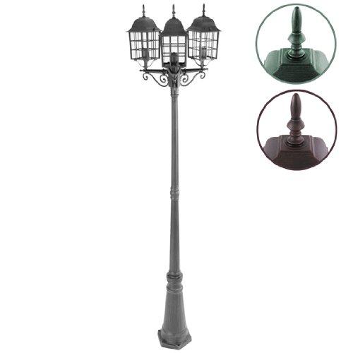 6 opinioni per Jago Lampione da giardino esterno altezza ca. 228 cm con 3 luci classe A++ fino