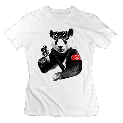 Woman Panda Rebel Graphic Design Colleges Shirt
