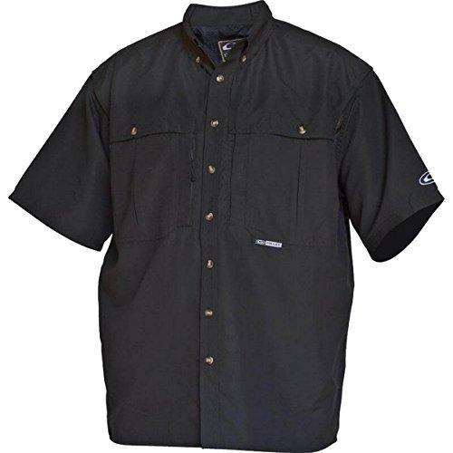 Drake Vented Wingshooter's Short Sleeve Casual Shirt (Small, Black)