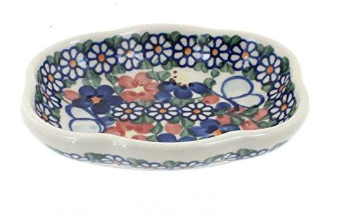 Polish Pottery Garden Butterfly Soap Dish
