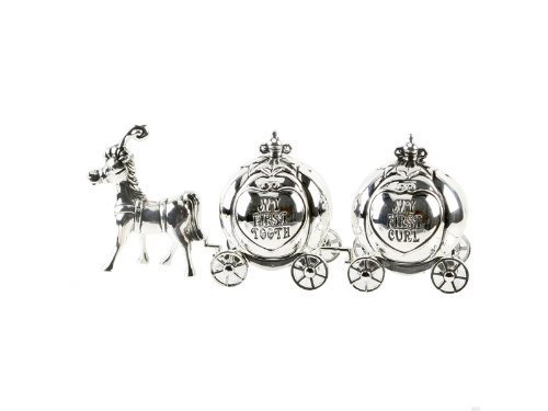 Silver Plated Cinderella Carriage My First Curl, My First Tooth BabyCentre CG464