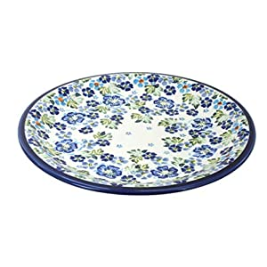 Blue Rose Polish Pottery Vintage Violet Dinner Plate