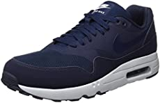 new style aced5 760cd Nike Men s Air Max 1 Ultra 2.0 Essential Blue Textile Running Shoe 9.5