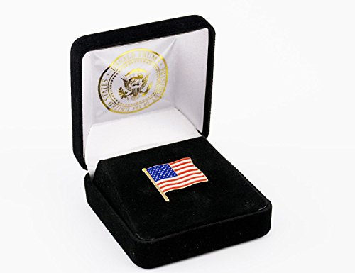Presidential American Flag Lapel Pin - Limited Edition 24K Gold Lapel Pin - 45th President Donald J. Trump