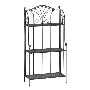 Delicieux French Market Home Kitchen Bar Bakers Rack Shelf Stand