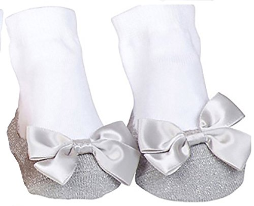 Sparkle Infant Socks 2 Pair 12-18 Months Silver /& Royal Blue Mary Jane Socks With A Bling