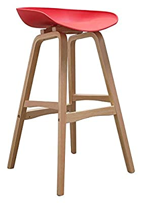Diamond Sofa Brentwood Bar Height Stool in Red