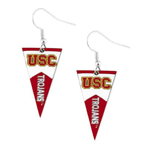 [NCAA USC Trojans Pennant Dangle Earring Set] (Usc Fan Costume)