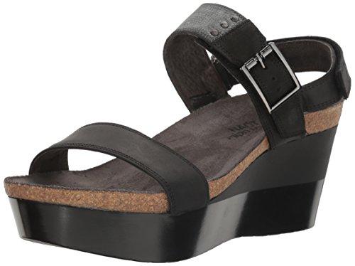 Velvet Suede Footwear - Naot Footwear Women's Alpha, Oily Coal Nubuck/Reptile Gray Leather/Black Velvet Nubuck, 41 (US Women's 10) M