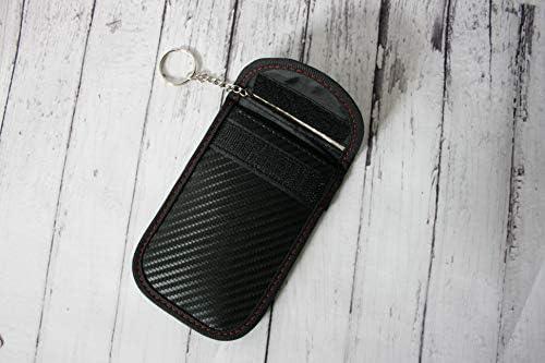 Blocking Protector maniche RFID//WiFi//GSM//LTE//N 4 x carta di credito 2 x Faraday della borsa per chiavi auto segnale di blocco RFID Keyfob RFID Protector Shield sistema di bloccaggio di sicurezza della catena portachiavi KEYLESS Fob antifurto sicuro Cage