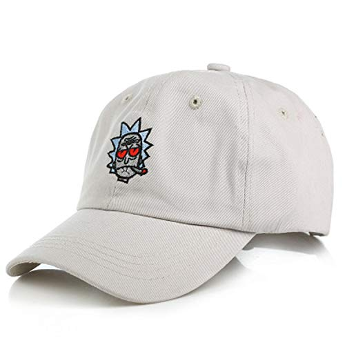 C-galry 2019 Ricky and Morty Caps Unisex Hip Hop Streetwear Baseball Caps Adjustable Caps for Summer White