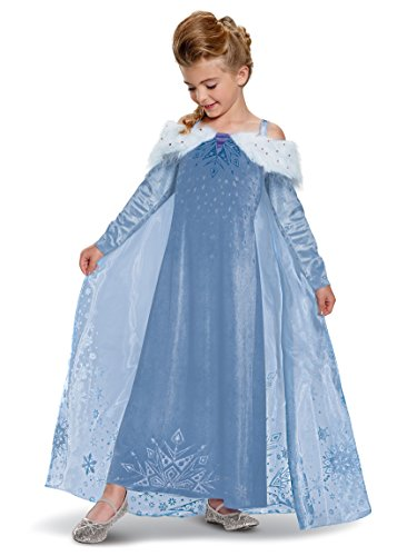 Disguise Elsa Frozen Adventure Dress Deluxe Costume
