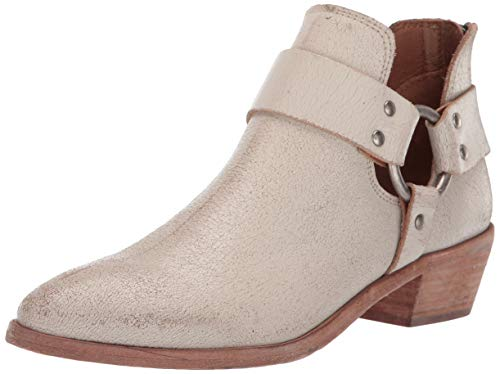 FRYE Women's RAY Harness Back Zip Ankle Boot Off White 9.5 M US