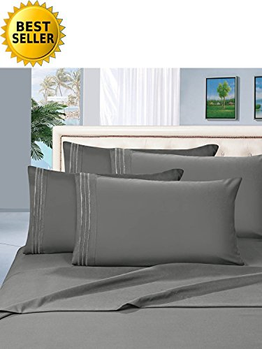 MattRest® Hotel Luxury Bed Sheets Set-ON SALE TODAY! #1 Rated On Amazon-Top Quality Softest Bedding 1500 Thread Count 100% Money Back Guarantee!Deep Pocket,Wrinkle & Fade Resistant - TWIN Gray (Bed Sets On Sheets Sale)