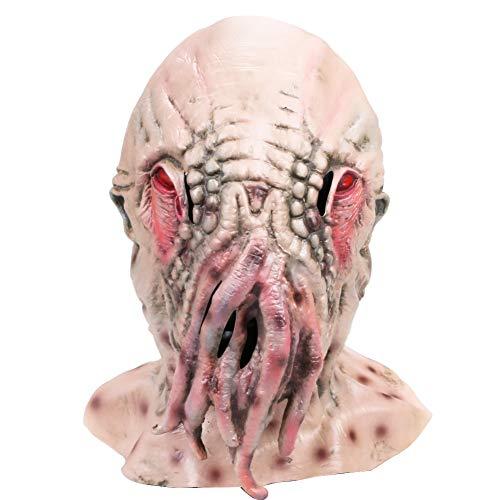 OM(TM) Halloween Creepy Ood Octopus Head Mask Doctor Who Wode Star Horror Masks
