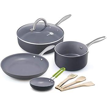 Amazon Com Greenpan Rio 12pc Ceramic Non Stick Cookware