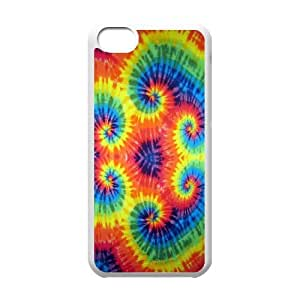 Qxhu Tie Dye Hardshell Durable Phone Case for Iphone 5C