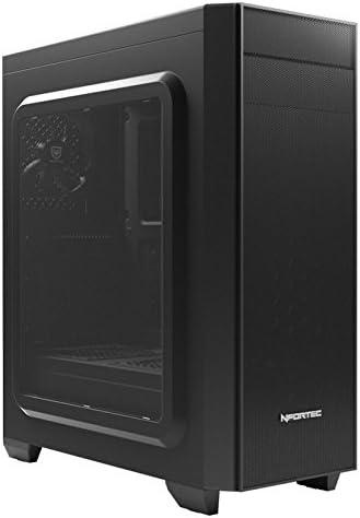 Nfortec Orion - Caja de Ordenador Gaming ATX Compatible con disipadores de hasta 160mm (con 1 Ventilador Incluido) de Color Negro (Compatible con Placas ATX, Micro-ATX y Mini-ITX): Amazon.es: Informática