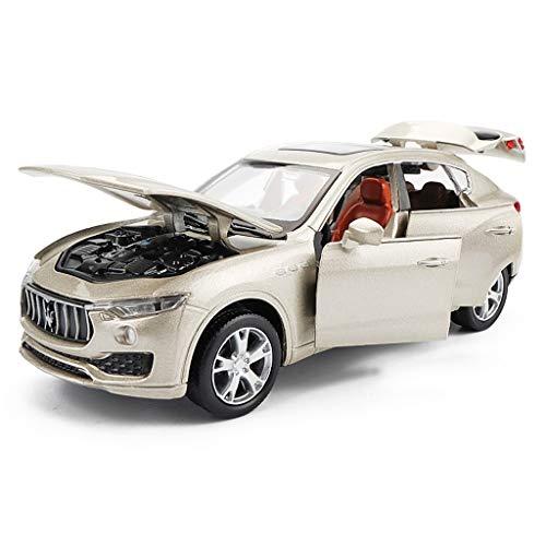 SXZHSM-Model car Car Model Car 1:32 Maserati Levante Simulation Alloy Die-Casting Toy Ornaments Sports Car Collection Jewelry 15x6.5x5.5CM (Color : Gold) ()