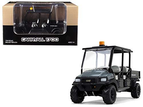 StarSun Depot New Club Car Carryall 1700 4x4 with Tilting Box Dark Gray/Black 1/34 Diecast Model by First - 1700 Car