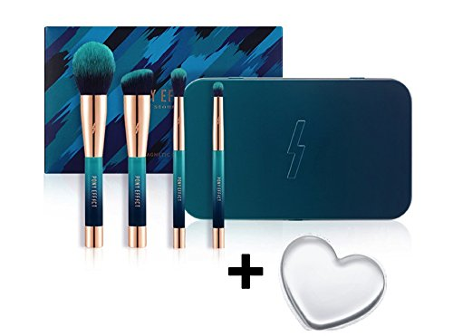 PONY EFFECT Magnetic Makeup 4 Pcs Brush Set ()