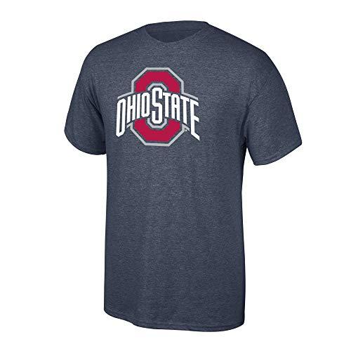 Elite Fan Shop NCAA Men's Ohio State Buckeyes T Shirt Charcoal Icon Ohio State Buckeyes Charcoal Large (Osu Vs U Of O Civil War)