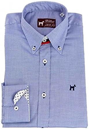 Williot Camisa Oxford Azul Hombre - Color - Azul, Talla - XXL ...