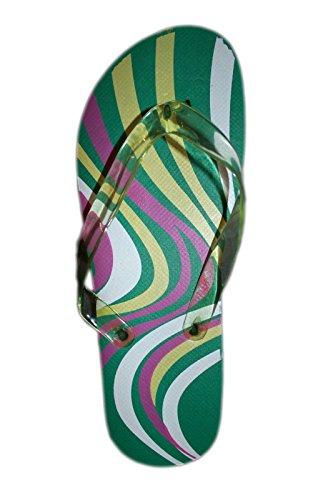 6 Patroon Keuzes * Gekleurde Bloemen / Geometrisch Ontworpen Sandalen Print Flipflop