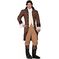 Forum Novelties 78004 Men's Colonial Gentleman Patriotic Costume, Standard, Brown