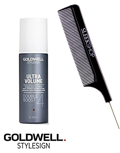Volume Root Boost - Goldwell Stylesign Ultra Volume Double Boost 4 Intense Root Lift Spray 6.2 oz (with Sleek Steel Pin Tail Comb)