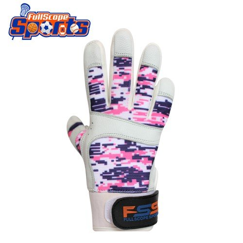 FullScope Sports Pro Super Grip Softball Baseball Batting Gloves for boys girls & youth (Pink/Purple/White Digital Camo, Youth Small (Ages 6-8 yrs old) by FullScope Sports