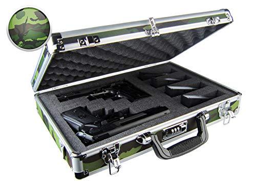 Common Sense Cases Concealer - Premium Camo Aluminum DoubleTriple Pistol Case - CASE-1026-CAMO-F -