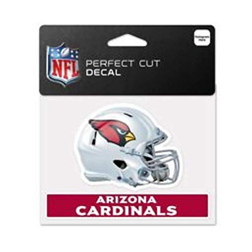 Bek Brands Licensed Professional Football Teams 4 x 5 Cling Decal for Cars, Windows and More, Helmet (Arizona Cardinals)