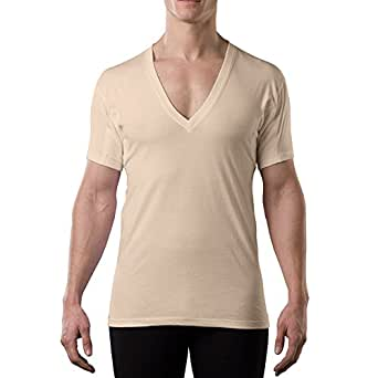 Thompson Tee With Underarm Sweat Pads Original DeepV, Beige, X-Small