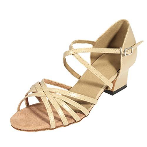 Cygnus Women Pumps Dance Shoes Latin Salsa Tango Practice Ballroom Dance Shoes with 1.8