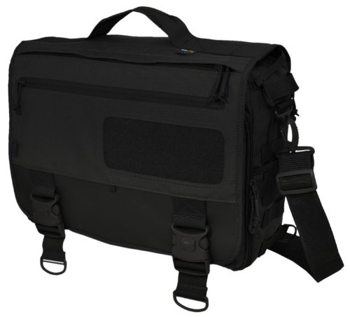 Hazard 4 MOD Laptop Messenger/Briefcase/Go-Bag with Molle, Black by HAZARD 4