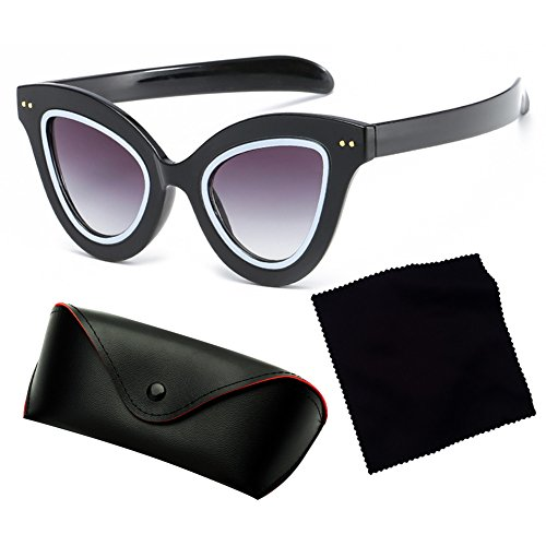 de Sexy juqilu Fashion Gradient C3 Femmes Populaire soleil Retro Cat Vintage Eye Hommes lunettes q7IPfTF