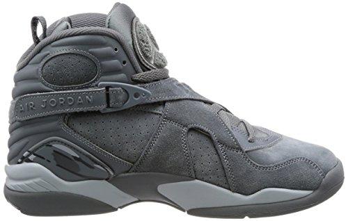 Jordan Air 8 Retro Mens Scarpe Da Basket Cool Grigio, Grigio Lupo Grigio Freddo