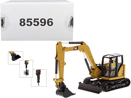 CAT Caterpillar 308 CR Next Generation Mini Hydraulic Excavator with Work Tools and Operator High Line Series 1/50 Diecast Model by Diecast Masters 85596 ()