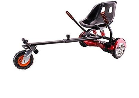 HOVERKART Todoterreno| - Asiento Silla Kart Patinete eléctrico Rojo, Robusto, amortiguadores, Regulable y valido para Todos los tamaños de Hoverboard (6,65,8,85,10 Pulgadas): Amazon.es: Deportes y aire libre