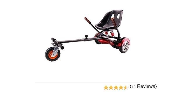 HOVERKART Todoterreno  - Asiento Silla Kart Patinete eléctrico Rojo, Robusto, amortiguadores, Regulable y valido para Todos los tamaños de Hoverboard ...